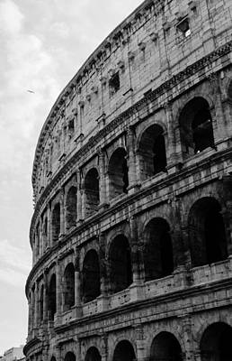 Rome - The Colosseum In Black And White Art Print by Andrea Mazzocchetti