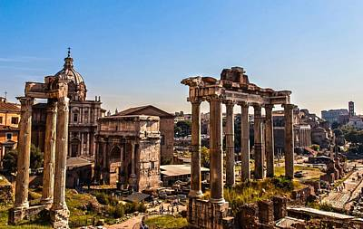 Photograph - Rome - The Imperial Forums - Hdr by Andrea Mazzocchetti