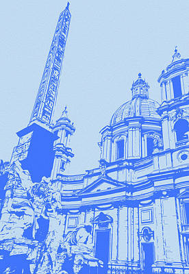 Painting - Rome, The Majestic Piazza Navona by Andrea Mazzocchetti