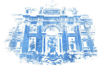 Painting - Rome, The Majestic Trevi Fountain by Andrea Mazzocchetti