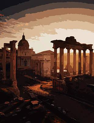 Painting - Rome, Twilight Of The Gods by Andrea Mazzocchetti