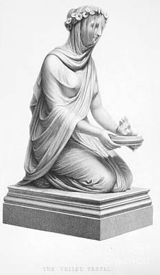 Ancient Roman Oil Lamp Photograph - Rome: Vestal Virgin by Granger