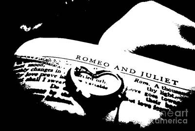 Sterling Silver Photograph - Romeo And Juliet - Abstract In Black And White by Scott D Van Osdol