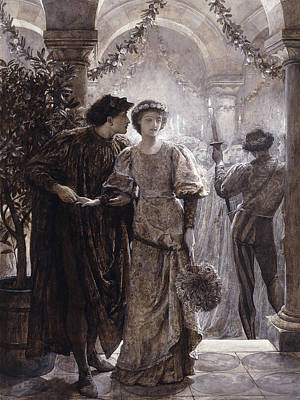 Interior Scene Drawing - Romeo And Juliet by Frank Dicksee