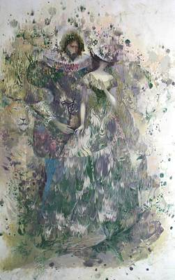Painting - Romeo And Juliet. Monotype by Valentina Kondrashova