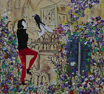 Romeo And Juliet. Art Print by Sima Amid Wewetzer