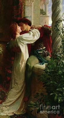 Column Painting - Romeo And Juliet by Sir Frank Dicksee