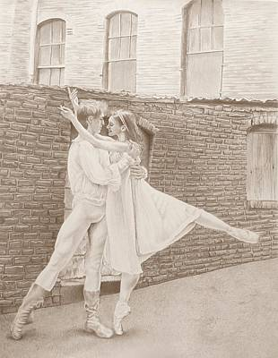 Metal Point Drawing - Romeo Juliet by Tonya Butcher