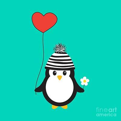 Romeo The Penguin Art Print by Natalie Kinnear