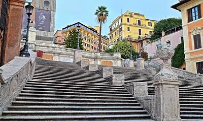 Photograph - Romes Famous Spanish Steps by Frozen in Time Fine Art Photography