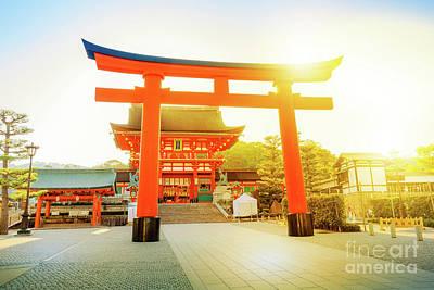 Photograph - Romon Gate Fushimi Inari by Benny Marty