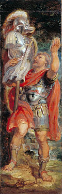 Painting - Romulus Setting Up A Trophy by Peter Paul Rubens