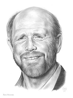 Foxes Drawing - Ron Howard by Greg Joens
