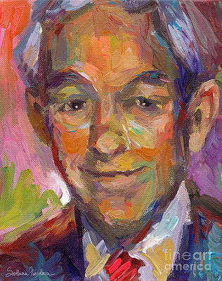 Ron Paul Art Impressionistic Painting  Print by Svetlana Novikova