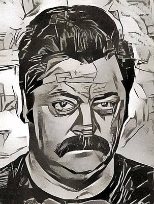 Painting - Ron Swanson by Paul Van Scott