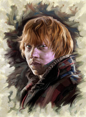 Digital Art Rights Managed Images - Ron Weasley, Harry Potter Portrait Royalty-Free Image by Garth Glazier
