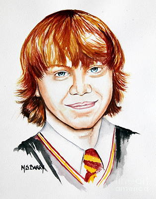 Painting - Ron Weasley by Maria Barry