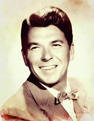 Politicians Royalty-Free and Rights-Managed Images - Ronald Reagan, Actor/President by John Springfield