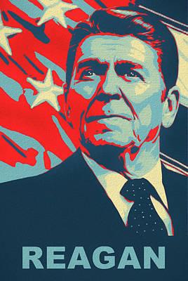 Politicians Mixed Media - Ronald Reagan by Dan Sproul
