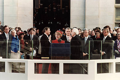 George Bush Photograph - Ronald Reagan Inauguration - 1981 by War Is Hell Store