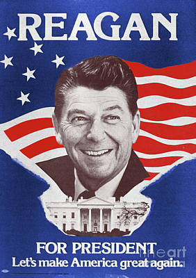 Photograph - Ronald Reagan Poster by Granger