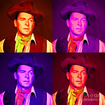 Ronald Reagan The New Marshal Is In Town 20151229 Four Square Art Print