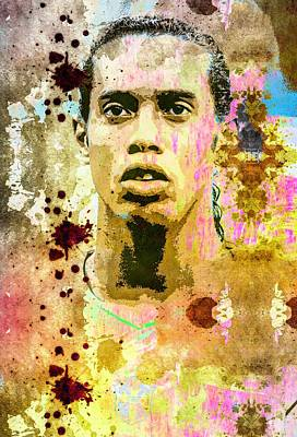 Mixed Media - Ronaldinho Gaucho by Svelby Art