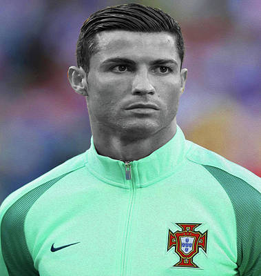 Cristiano Ronaldo Mixed Media - Ronaldo P2 By Nixo by Nicholas Nixo