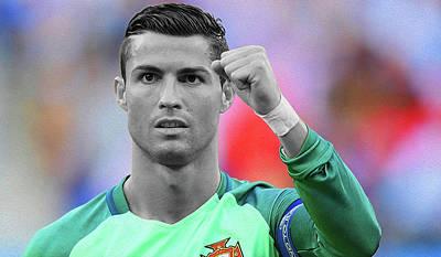 Cristiano Ronaldo Mixed Media - Ronaldo P4 By Nixo by Nicholas Nixo