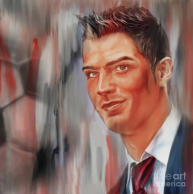 Cristiano Ronaldo Painting - Ronaldo Soccer Player 098iu by Gull G