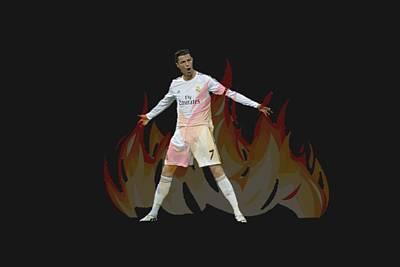 Xabi Alonso Digital Art - Ronaldo by Vincenzo Basile