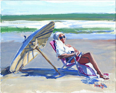 Painting - Rona's Beach Chair  by Candace Lovely