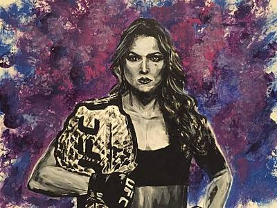 Painting - Ronda Rousey by Joel Tesch