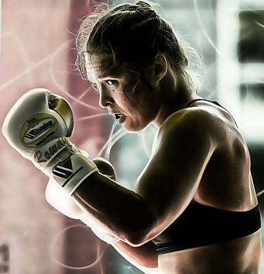 Boxer Mixed Media - Ronda Rousey Mma by Marvin Blaine