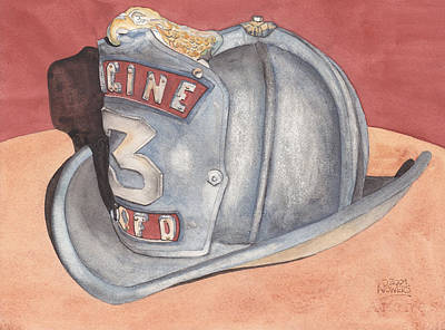 Rondo's Fire Helmet Art Print by Ken Powers