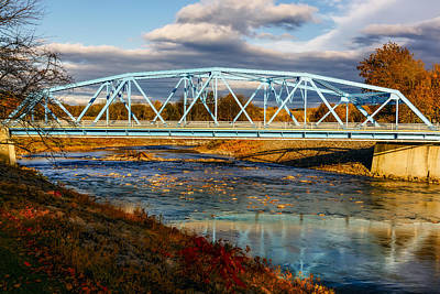 Digital Art - Rondout Creek Bridge by Susan Candelario