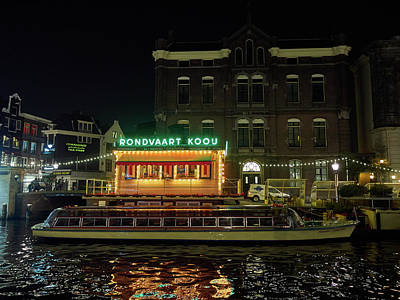 Photograph - Rondvaart Koou. Amsterdam Night by Jouko Lehto