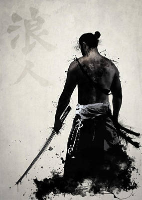 Samurai Mixed Media - Ronin by Nicklas Gustafsson