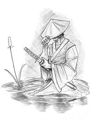 Ronin Samurai Art Print by Baron Pollak