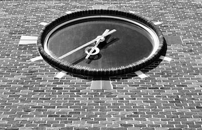 Photograph - Ronkonkoma Time Black White by Rob Hans
