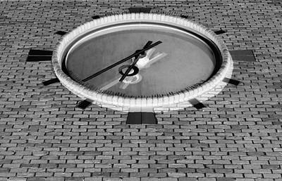 Photograph - Ronkonkoma Time Negative B W by Rob Hans