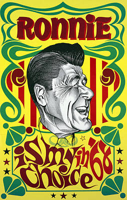 Ronnie Is My Choice In '68 Art Print by Daniel Hagerman