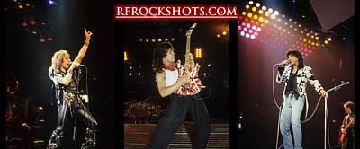 Photograph - Ronnie James Dio, Eddie Van Halen And Steve Perry by Rich Fuscia