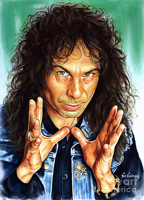 Dio Painting - Ronnie James Dio by Spiros Soutsos