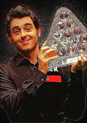 Communion Digital Art - Ronnie O'sullivan by Semih Yurdabak
