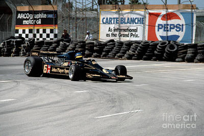 Ronnie Peterson Photograph - Ronnie Peterson. 1978 United States Grand Prix West by Oleg Konin