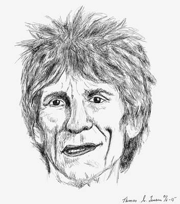 Digital Art - Ronnie Wood by ThomasE Jensen