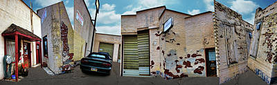 Cubist Photograph - Ron's Automotive - 2 by Nikolyn McDonald