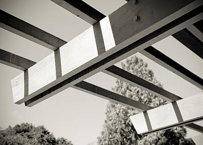 Roof Beams Art Print by Edward Myers
