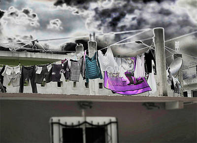 Photograph - Roof Laundry 2 by Susan Garrett